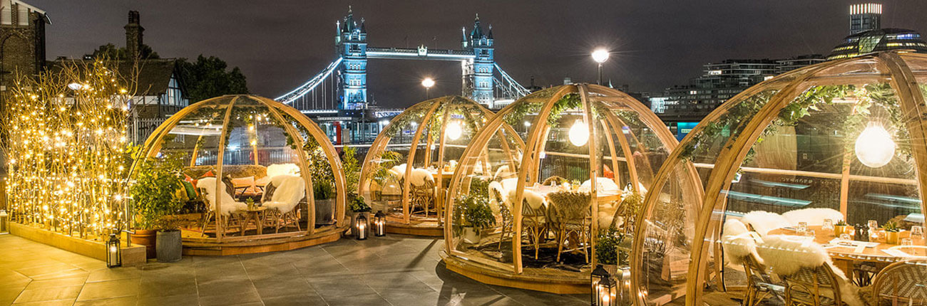 Enjoy a meal in a London igloo