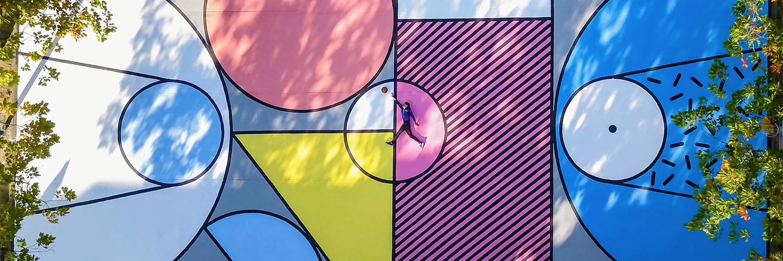 9 terrains de basket transformés en œuvres d'art étonnantes