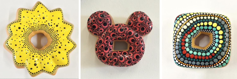 Ces incroyables donuts color-block sont faits en céramique