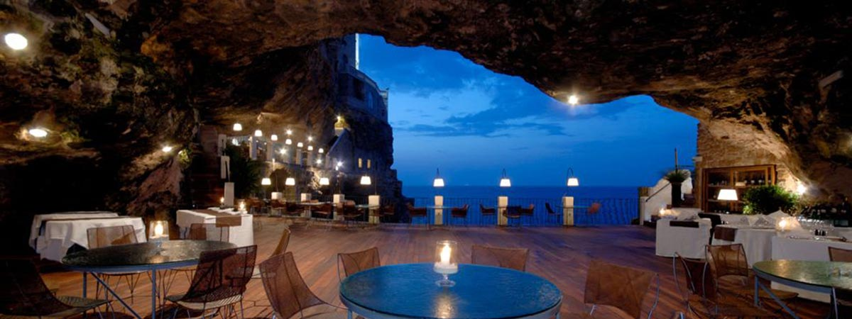 A restaurant hidden in a sublime cave in the heart of Apulia