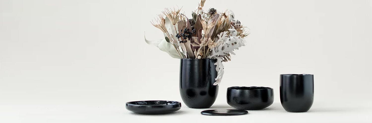 Japanese designer creates beautiful tableware by recycling food waste