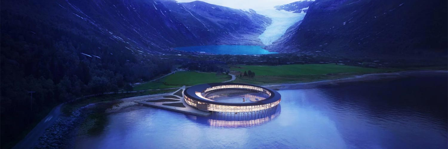 The first positive energy hotel designed to observe the Northern Lights