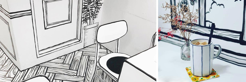 En Corée, prendre un café dans une bande dessinée